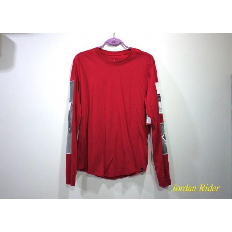 NIKE Air Jordan III Retro AJ 3代 老屁股 海報 黑水泥 紅色 喬丹 長袖T恤 薄長T
