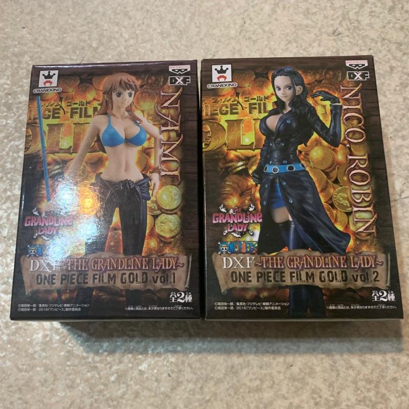 日版金證 海賊王 DXF THE PIECE FILM GOLD 黃金城 娜美+羅賓 標準盒