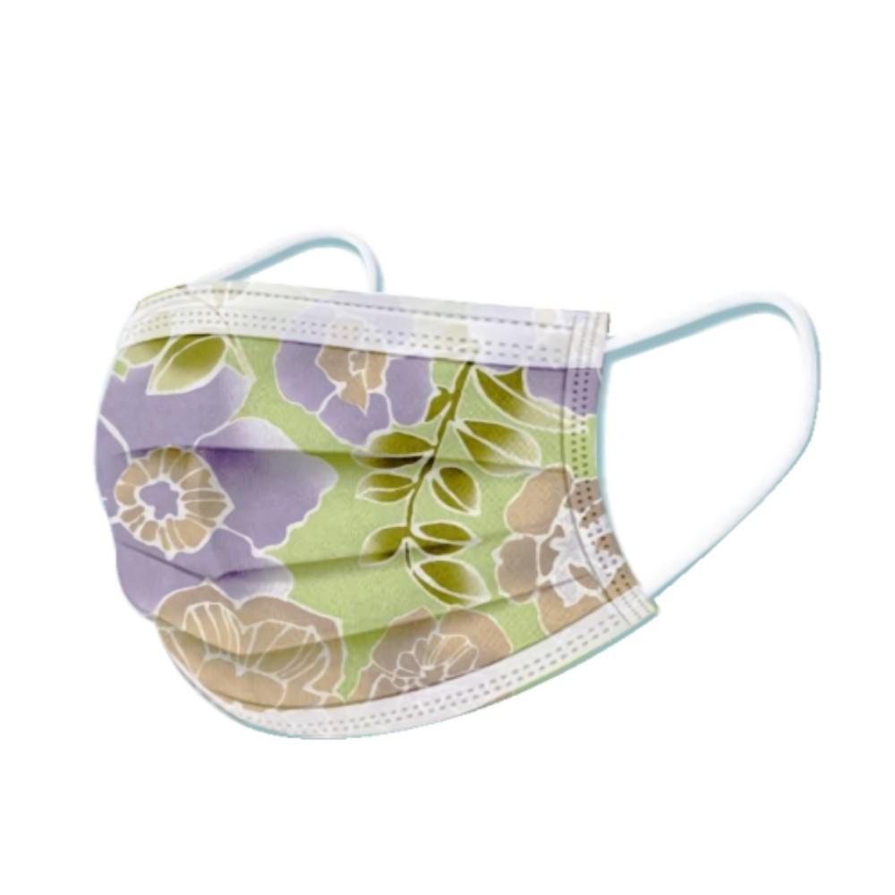 文賀生技醫用口罩 (未滅菌)-三層醫療口罩-酷玩潮流系列-田園果綠 30入/盒