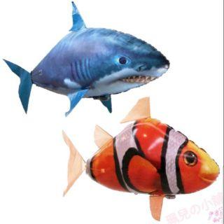 遙控飛天鯊魚小丑魚 充氣鯊魚 充氣小丑魚 遙控鯊魚 遙控小丑魚 遙控玩具 遙控氣球 空中鯊魚 空中小丑魚 鯊魚小丑...