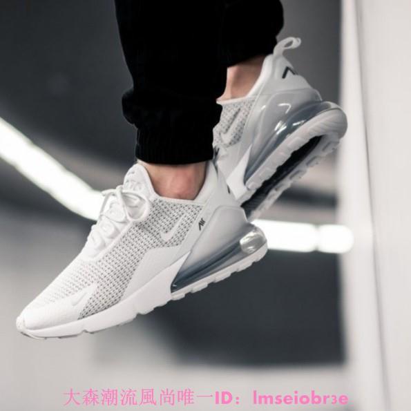 Nike Air Max 270 全白 針織 氣墊 女鞋 慢跑鞋 休閒鞋 運動鞋AQ9164-101