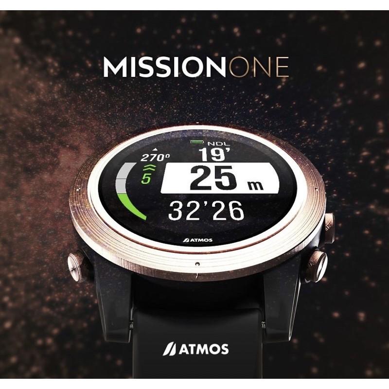 全新 ATMOS MISSION ONE潛水硅膠錶帶 (黑色)公司貨