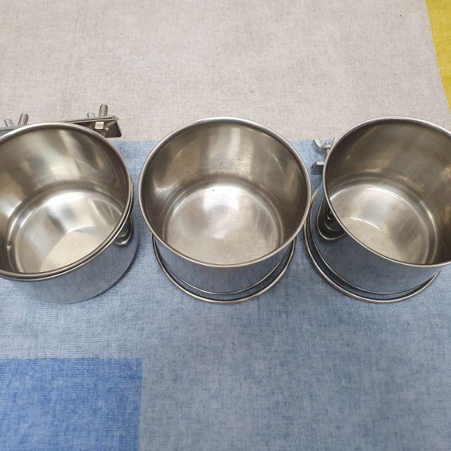 轉賣*304不銹鋼鳥籠杯架組/鳥用/鸚鵡用/白鐵飼料杯