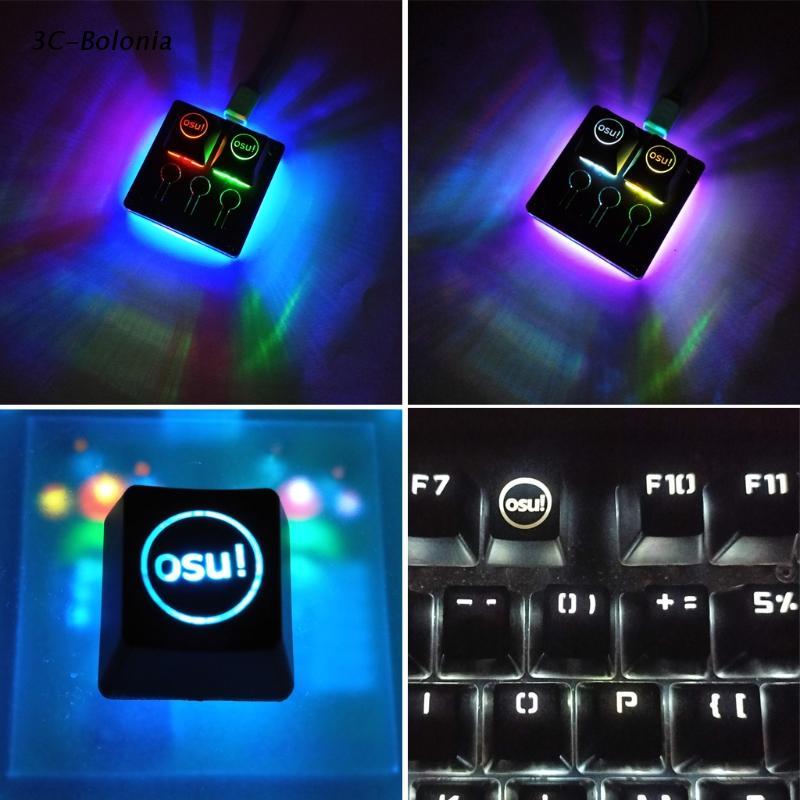 【 Pc 】櫻桃鍵盤背光機械鍵盤鍵帽 R4 高度 ESC 半透明的 1PC DIY ABS 背光 OSU 鍵帽