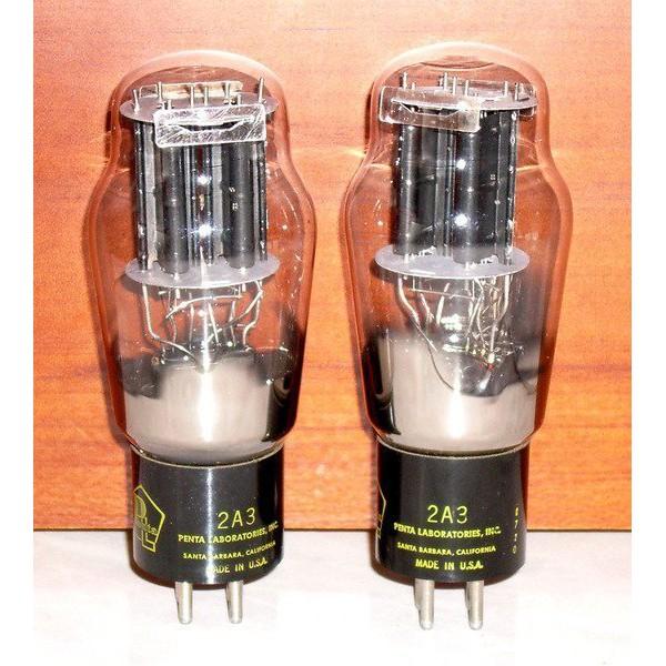 美國PENTA LAB於1987年5月製古典2A3功率放大用直熱式三極真空管一對,單端出力3.5W,溫潤甜美,細節豐富!