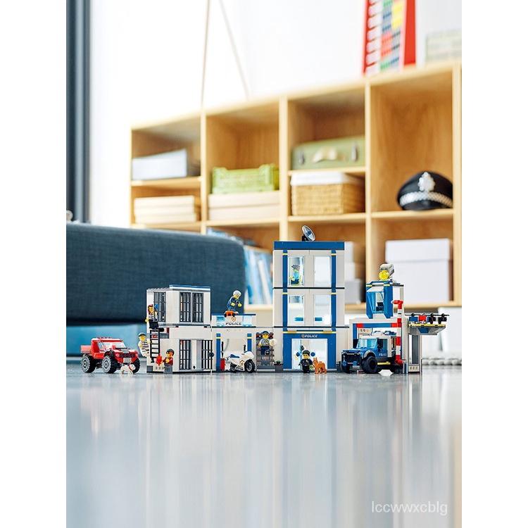 ❀爆款現貨❀樂高積木城市系列60246警察局兒童拼裝益智玩具男孩子生日禮物