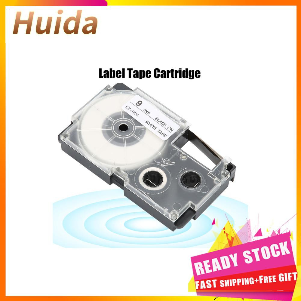 Huida 卡西歐標籤打印機KL-60 / 120/170/780/820的9毫米盒式磁帶