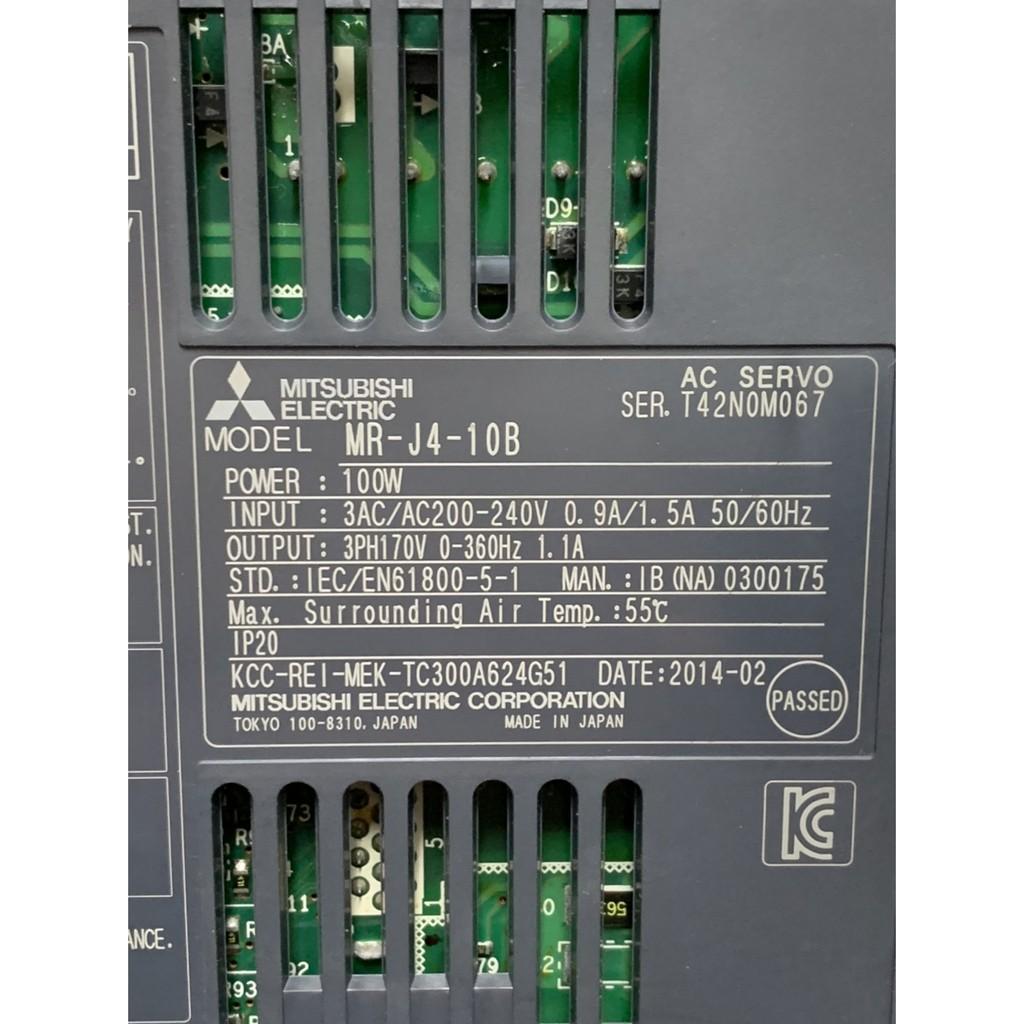 三菱伺服驅動器銷售-MR-J4-10B、MR-J4-20B、MR-J4-40B(中古良品)