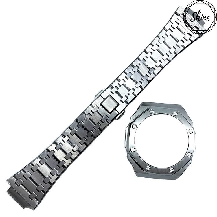 (現貨)GA-2100手錶殼錶帶 不銹鋼 客製G-SHOCK手錶改裝配件歡迎光臨蕊蕊雜貨鋪