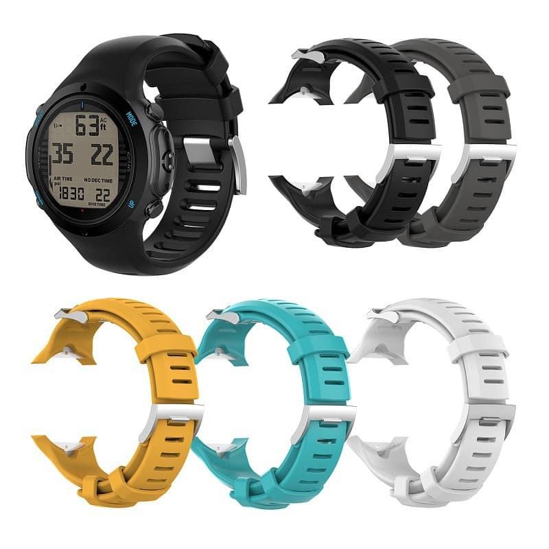SUUNTO松拓/頌拓D6 Dive/ D6i NOVO/ZULU手錶矽膠鋼扣錶帶配長帶
