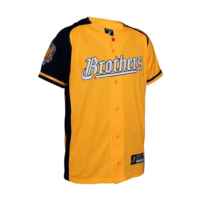 中信兄弟 戰象披甲 英文球衣 2020 新款 黃色 兄弟象 棒球衣 開扣球衣