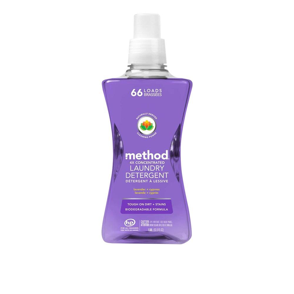 Method 美則 4倍濃縮香水洗衣精 - 法式薰衣草1580ml (極淨洗衣精,洗淨99%四大細菌 無添加磷 洗衣專家