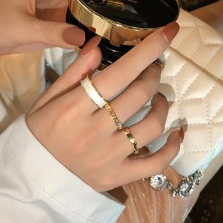 Bene 戒指 3 件套戒指套裝簡約韓國時尚戒指女女孩時尚珠寶禮物金色銀色可調