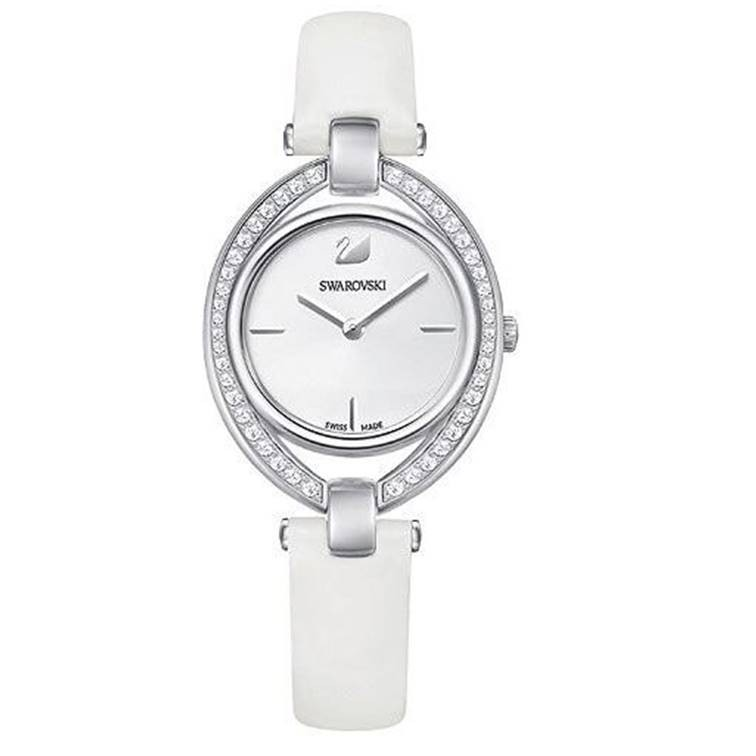Swarovski 施華洛世奇 5376812 Stella嫵媚流線時尚腕錶 白 35mm 廠商直送