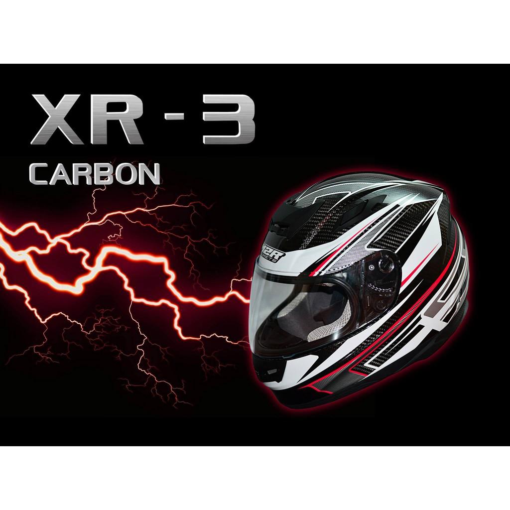瀧澤部品 M2R XR-3 碳纖彩繪 全罩安全帽 XR3 通勤 機車 重機 摩托車 舒適透氣 抗UV鏡片 輕量 勁戰G6