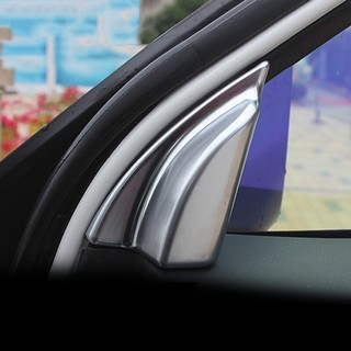適用於馬自達 Cx-5 Cx5 2013 2014 2015 2016 Abs 鉻內部 A 柱揚聲器喇叭環蓋飾板汽車造型