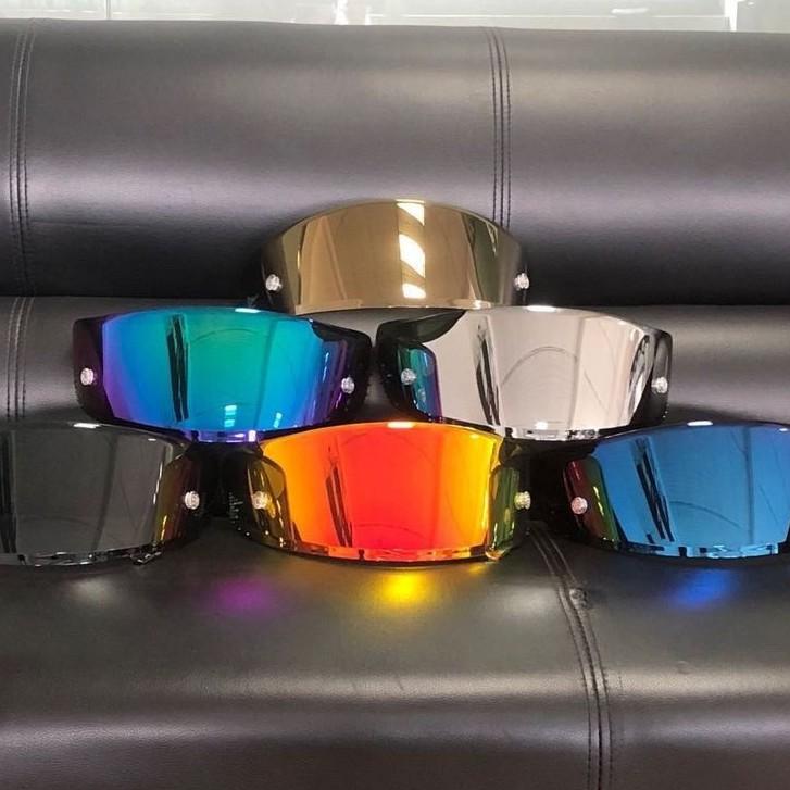 SHOEI X14 Z7鏡片 電鍍片 金紅色 銀藍 幻彩紫 茶黑頭盔鏡片 機車騎士配件彩色x11 X12 GT-AIR