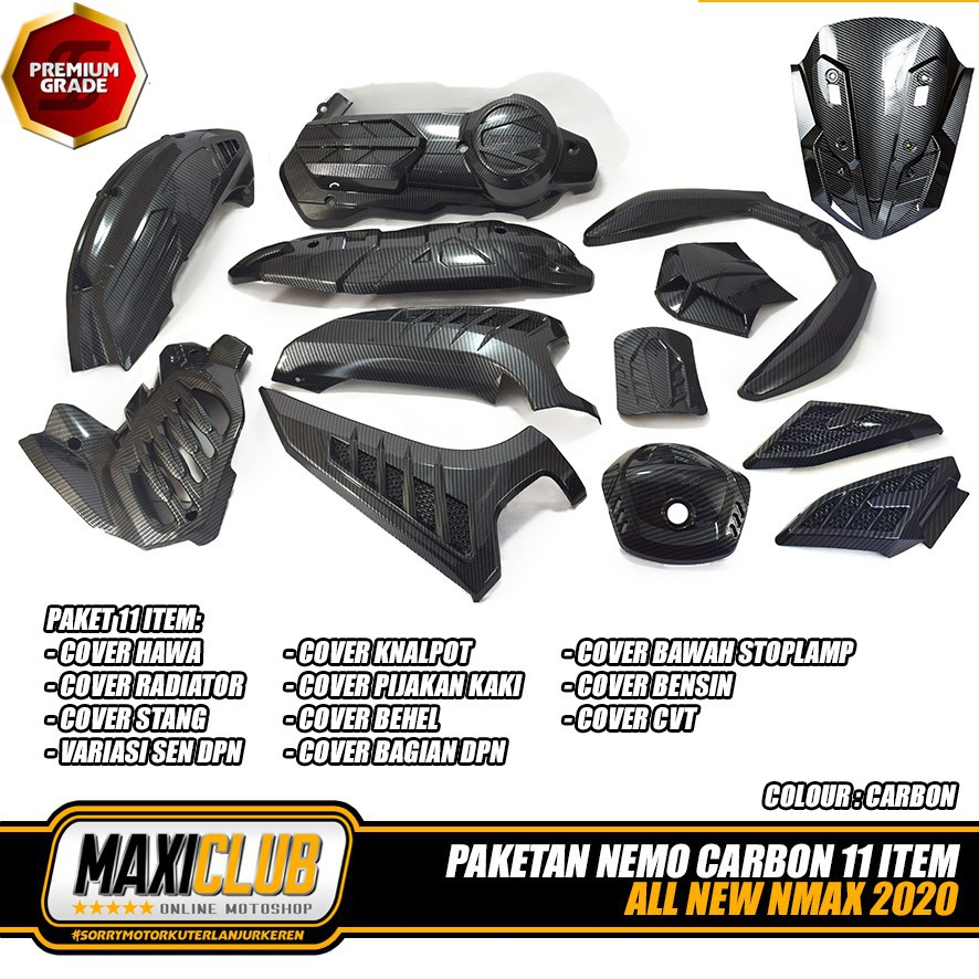 Moto橘皮 NMAX155 碳纖維 卡夢 車殼 面板 水箱罩 xmax forza tmax burgerman