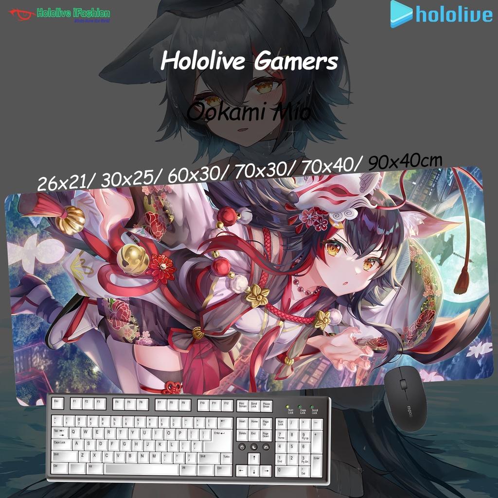 新 免運 ★ 大神澪 ★ Hololive Vtuber Mio香 支援客制化 動漫超大精緻鎖邊加厚遊戲滑鼠墊桌墊硅膠墊