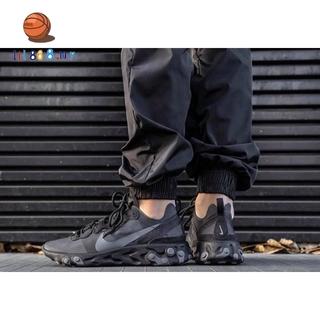 歐美選購 Nike React Element 55 BQ6166-008 男鞋 女鞋 全黑 黑魂 歐美限定 桃園市