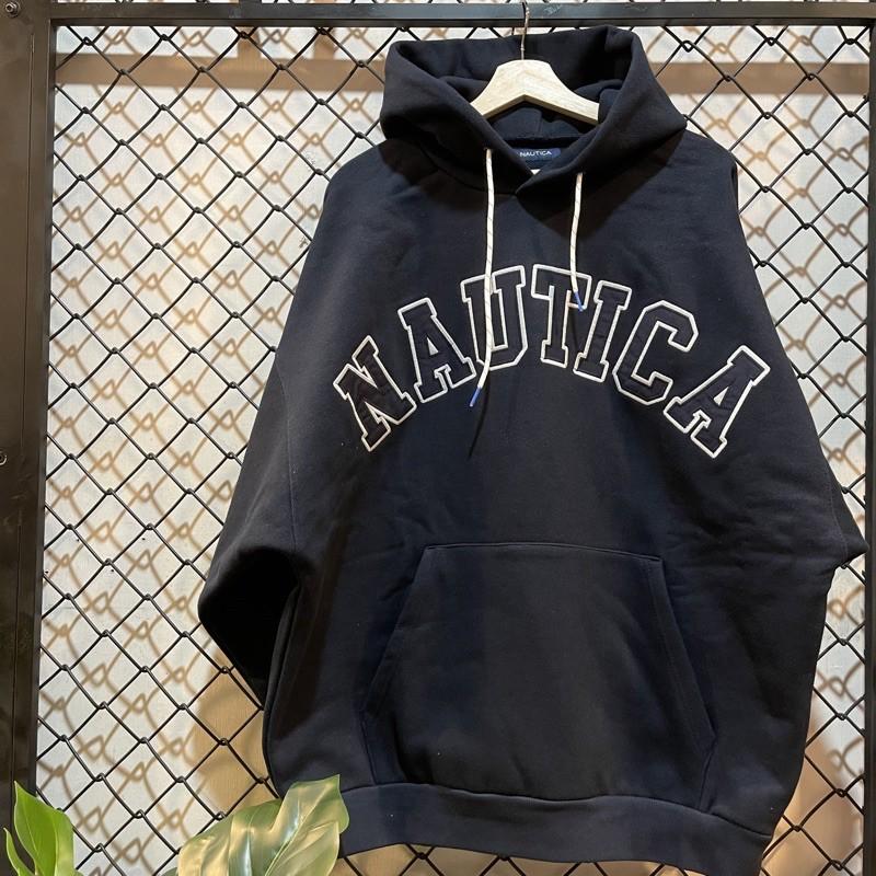 [ HUGE ] 中原商圈 Nautica SWEAT LETTERED PARKA 長袖帽T 休閒上衣 現貨