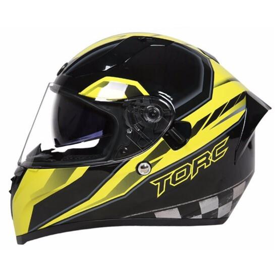 【TORC】T15 EDGE - YELLOW 頭槌帽  亮光 街跑車 全罩 安全帽 內遮陽片