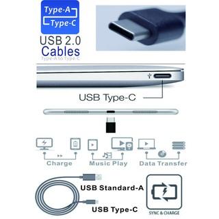 USB2.0 Type-C公轉A公 傳輸線 數據線 USB-C 充電線(100cm黑色) 新竹縣