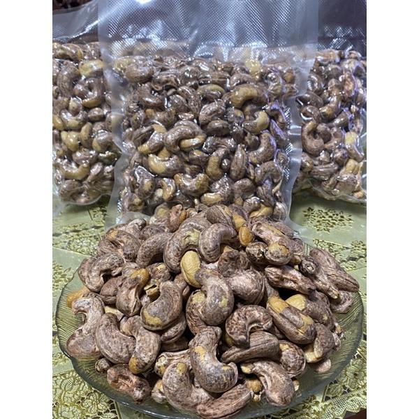 大顆越南帶皮腰果[薄鹽焗烤]真空包裝500g 零嘴好好吃