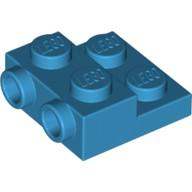 Lego樂高 99206 深天空藍色 側接轉向薄板 Plate Mod 2x2 Studs 6218014