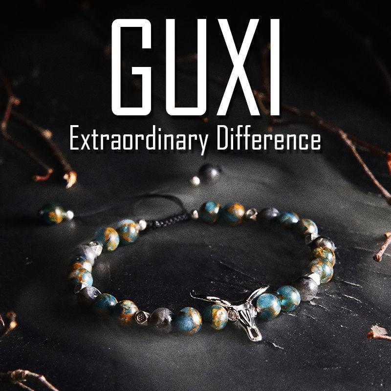 熱賣·迷路【GUXI潮牌】原創韓版潮男手鏈ins小眾設計 個性學生珠子手串