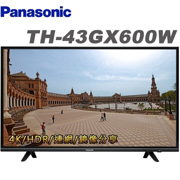 PANASONIC 4K 43 55 65型 TH-55GX600W LED液晶電視 GX600W