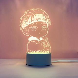 【來圖客製 一件起做】肖戰 王一博 楊洋 偶像明星 動漫 3D 壓克力小夜燈 led壓克力檯燈 生日禮物客制化