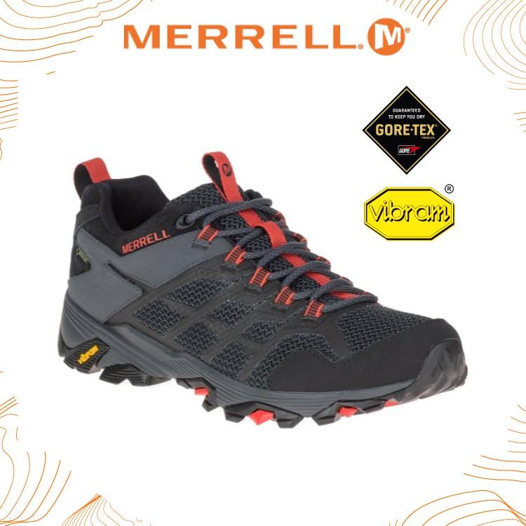MERRELL 美國 男 MOAB FST 2 GORE-TEX多功能健行鞋 《黑/橘》/ML77443/登山/悠遊山水