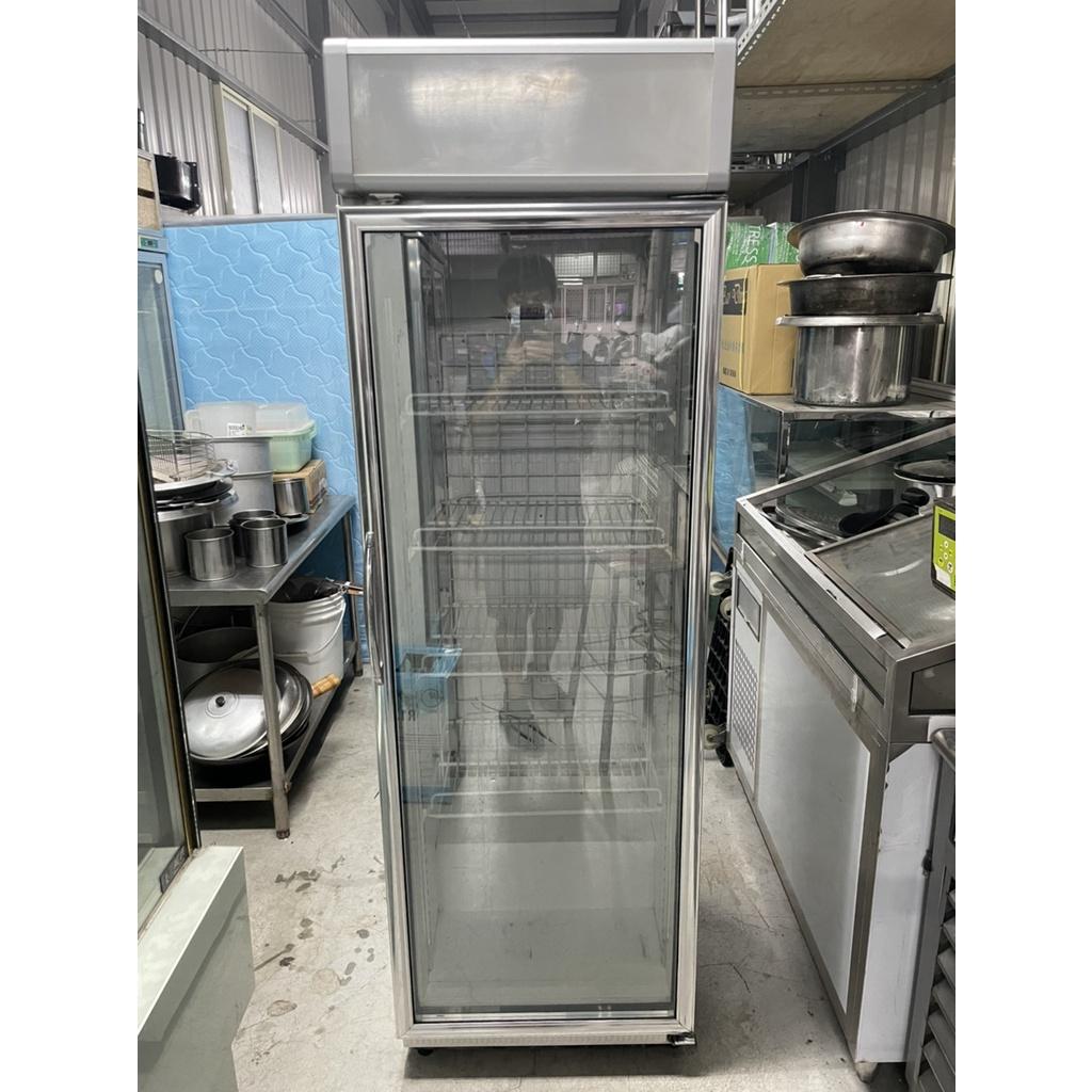 【上豪冷凍餐飲設備】瑞興(407L)單門玻璃冷藏冰箱110V.營業用.二手.中古