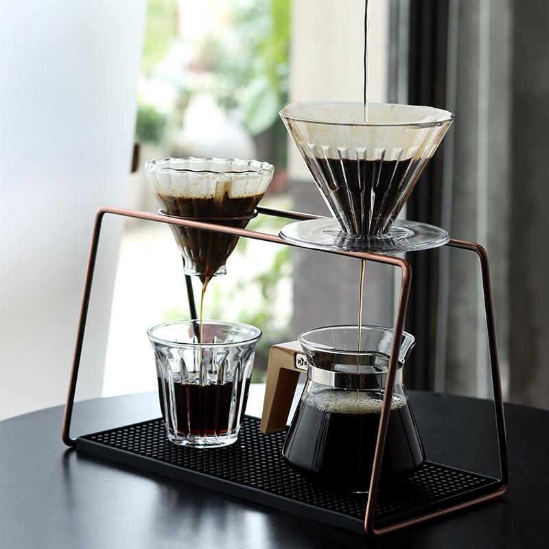 咖啡手沖架金屬咖啡濾杯架簡約工業風咖啡支架單品手沖咖啡架