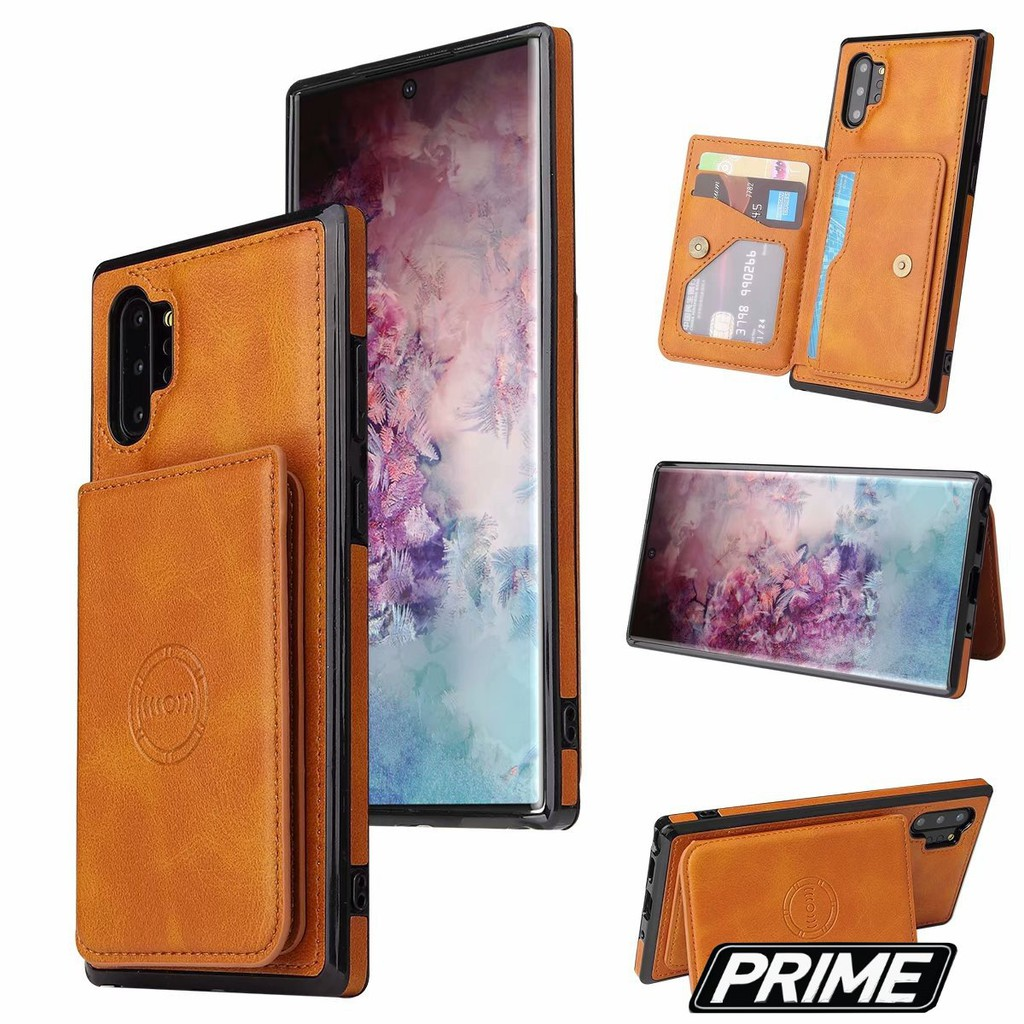 【Prime Shop】適用於三星note10手機殼可放卡片note10plus插卡零錢包防摔保護套 S10 裝飾配件