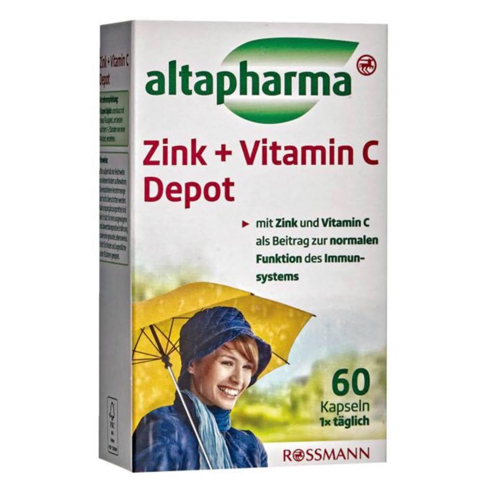 德國 Altapharma 鋅+維生素C膠囊 60粒