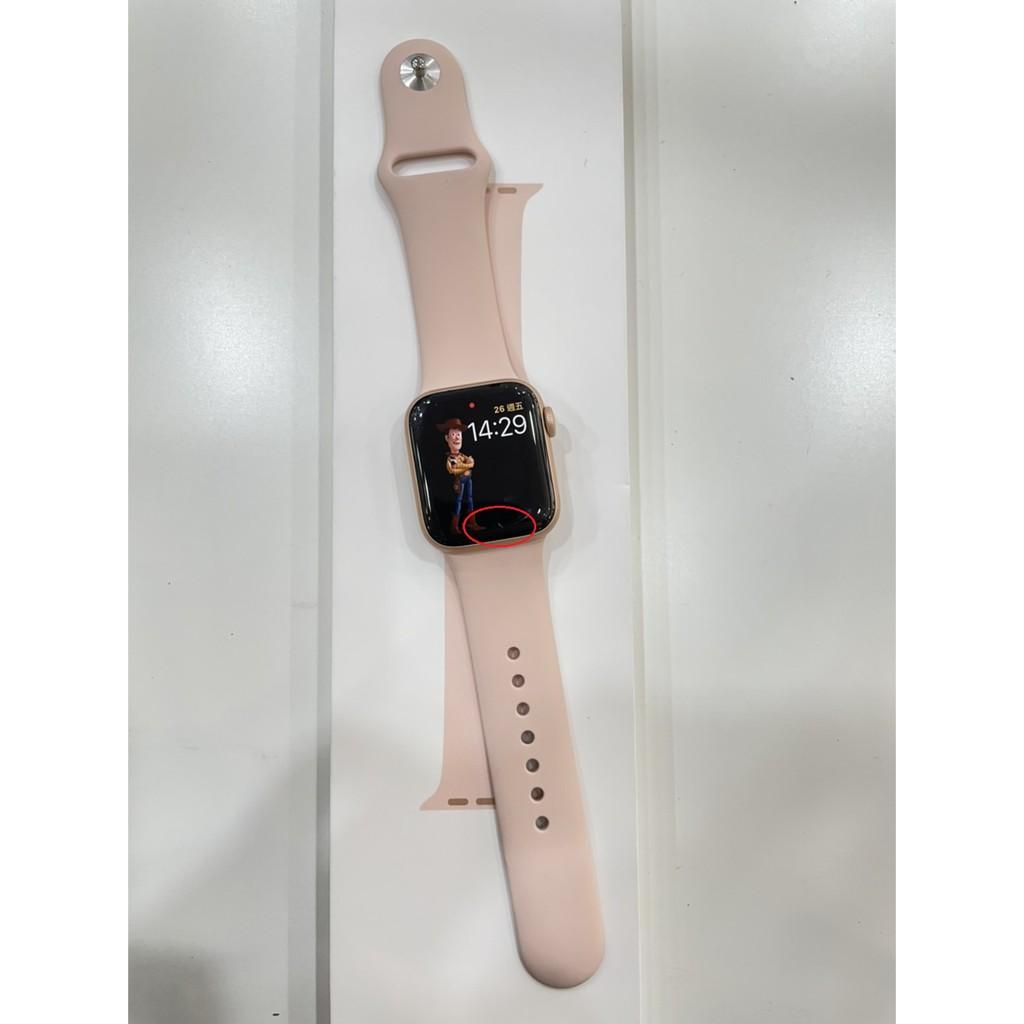 Apple Watch Series 6 40mm GPS金色鋁殼粉沙色運動錶帶#二手錶#保固中#新興店WQ1RG