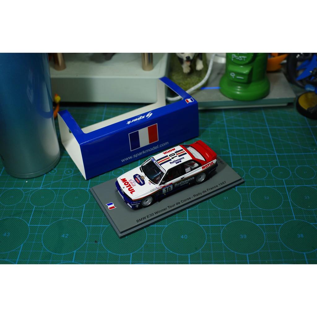 現貨SPARK模型 1/43 1987亞爾薩斯 寶馬 BMW E30 10# (煙標)