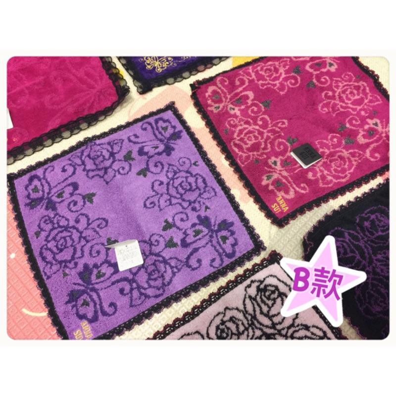 ANNA SUI 桃心蝴蝶蕾絲毛巾/方巾(附禮卡+專櫃提袋)原價$680