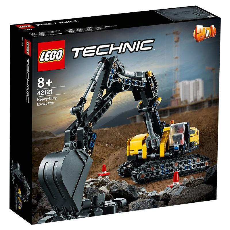 樂高積木兒童玩具【正品行貨】樂高積木機械組系列42121重型挖掘機
