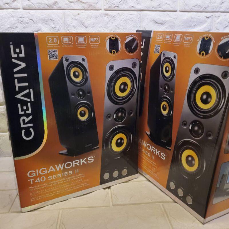 全新未拆@創新未來 Creative GigaWorks T40 Series II 喇叭 2.0 電腦喇叭