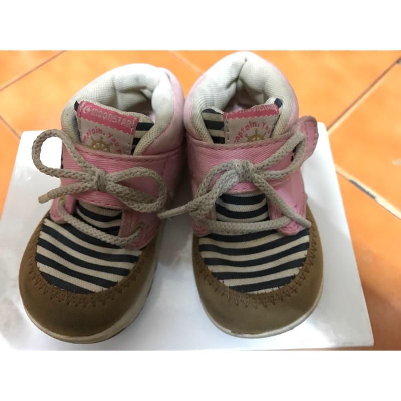 日本MoonStar 月星 機能帆布童鞋 二手