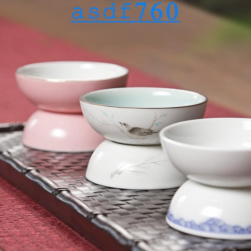 竹茗堂·白瓷青花茶濾套裝 陶瓷茶葉過濾器泡茶茶漏濾網 創意功夫茶具配件