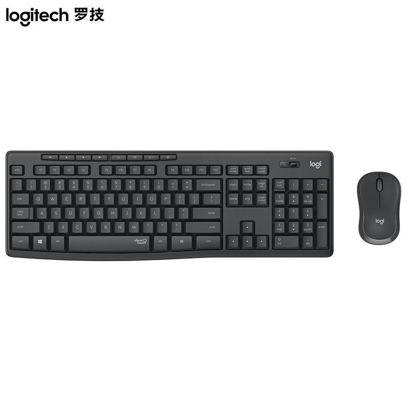 現貨羅技(Logitech)MK295 無線靜音鍵鼠套裝 商務辦公鍵鼠套裝 全尺寸 帶無線2.4G接收器