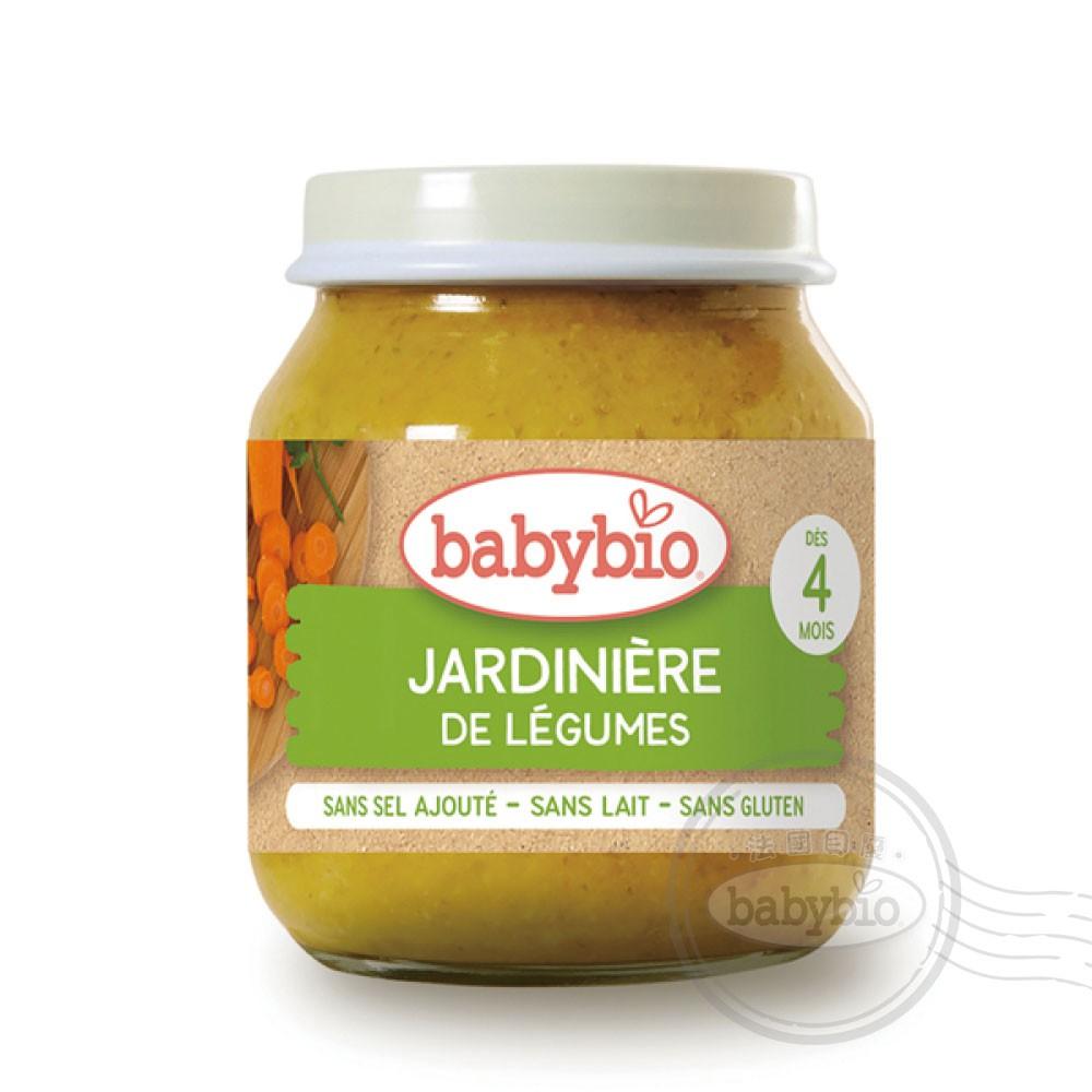 法國Babybio 生機田園綜合鮮蔬泥4m+ 130g Babybio官方直營店