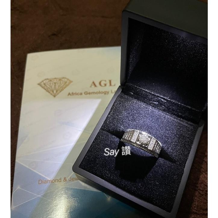 Say 讚 全新現貨 AGL 證書 小資款 男生戒指 真鑽 碎鑽 情人節 鑽戒