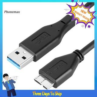 用於SSD HDD移動硬盤的PHONE_USB 3.0 A到Micro B公適配器轉換器電纜充電線