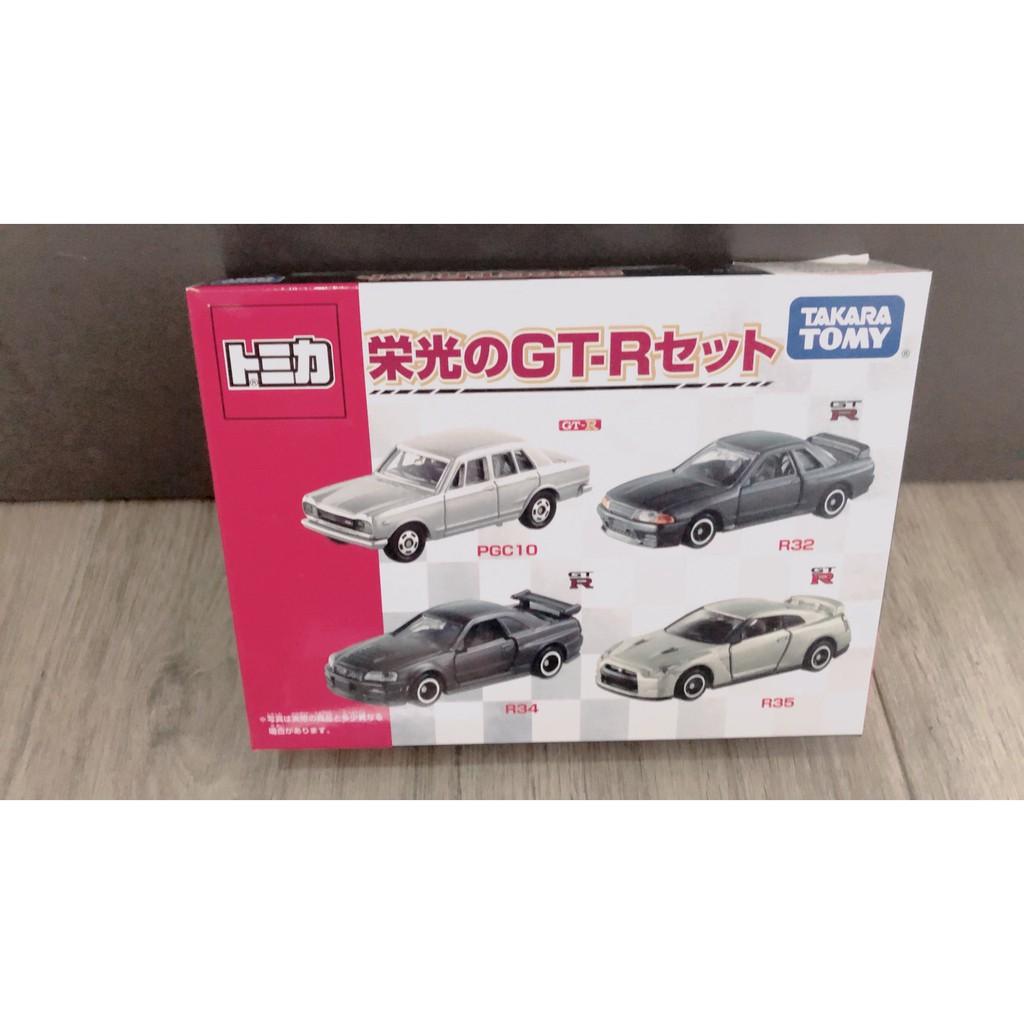 TOMICA盒裝 四台一組 榮光Nissan GTR系列