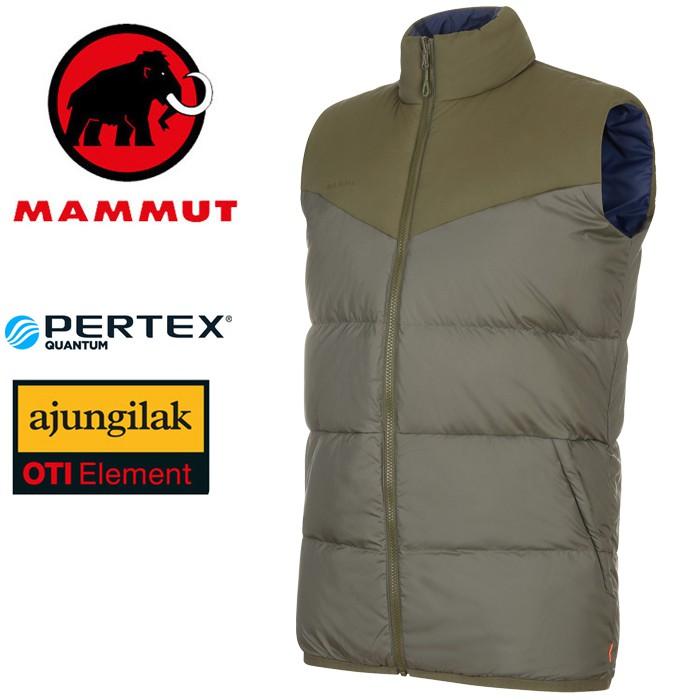 【Mammut 長毛象 瑞士】Whitehorn IN 雙面羽絨背心 男款 綠鬣蜥/藏青色 (01100-40098)